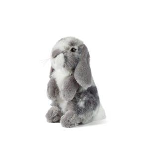 AN345G+Grey+Sitting+Lop+Eared+Rabbit